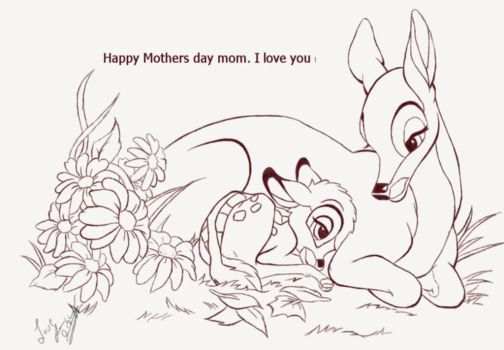 Disney Bambi Mothers day Picture by Jenilea01