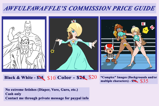 Updated Commission Prices by awfulfawaffle