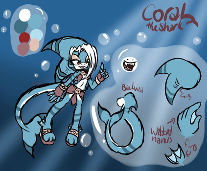 Coral the Shark by l-OliWood-l