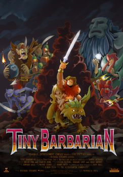 Tiny Barbarian Movie Poster by bakkeby