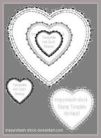 Stamp Templates Heart1 by Bnspyrd
