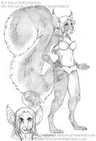 Cindi - Character Sketch by soulspoison