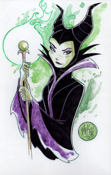 Watercolor: Maleficent by mikemaihack