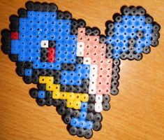 Squirtle - Perler or Hama by Chrisbeeblack