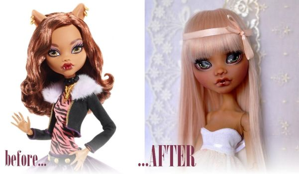 17'' Clawdeen - OOAK Custom Monster High doll by Katalin89