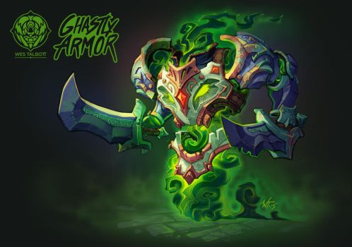 Battle Chasers Creature Contest: Ghastly Armor by WesTalbott
