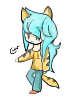 Totally not Katelyn (from Aphmau) as a tiger... by CharTheKitten