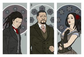 Shadhelton triptych by moon-pookah