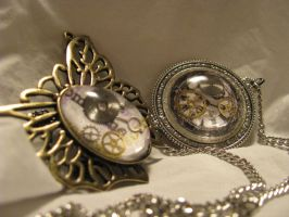 Time Capsule Necklaces by Lollipopdunce