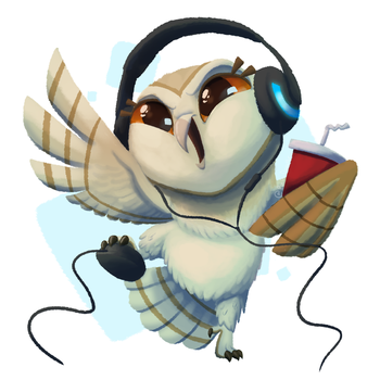 Online Owl by Pink-Doodlr