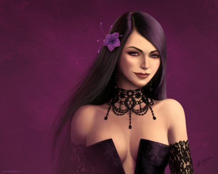 Violet-Black wallpaper by Deligaris