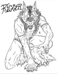 Rigger. Werewolf Form by LanzTheDestroyer