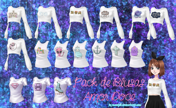 Amor Doce - Pack de Blusas by moonjell