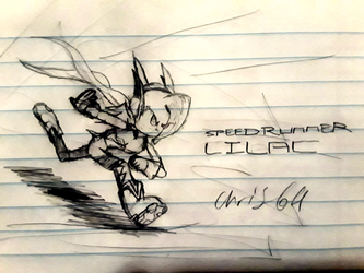 SpeedRunner Lilac (Sketch) by ChrisCore64