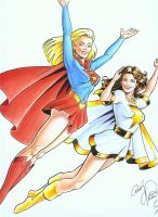 SUPERGIRL AND MARY MARVEL by lenellb