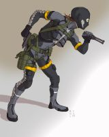 MGS Peace Walker Sneaking suit by adriangabcornejo