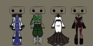 Outfit Adoptable Set 2 - CLOSED by imaginary-shops