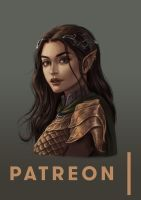Patreon Drawing: Arwen by JuneJenssen