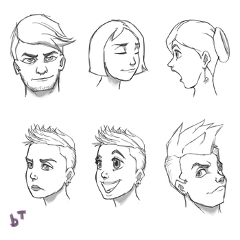 Facial Expressions by lumfini