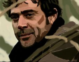 John Winchester colour by SerenityBlue71