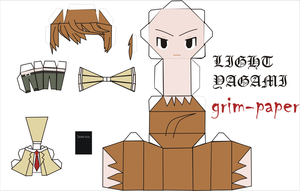 light  yagami pattern by Grim-paper