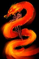 Magic of Dragon Flame by SorceressIgnis