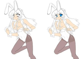 Bunny Girl Poker WIP by Cypher-Shot
