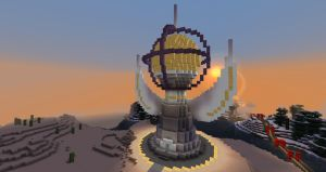 Winged tower in minecraft by Aurora-Alley