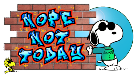 Snoopy and Woodstock ''Nope Not Today'' by dolphinandcow