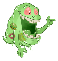 Slimer by itsaaudraw