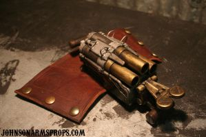 Steampunk Wrist Canon - Photo 2 by JohnsonArmsProps