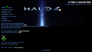 Halo 4 Journal Skin by RottenRibcage