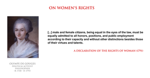 Olympe de Gouges - on women's rights by YamaLama1986