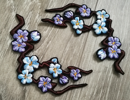 FOR SALE: Cherry Blossom branch ~Embroidered patch by CyanFox3