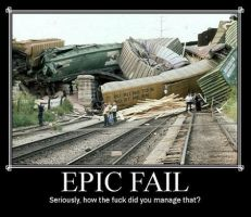 Train Epic Fail by Atekal