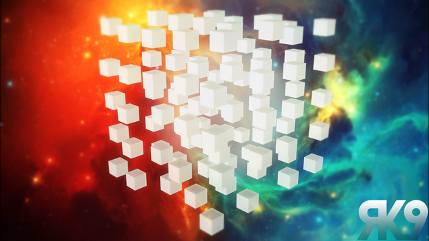 Abstract space background by Eisluk