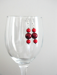 Red Drop Earrings by EcstaticDismay