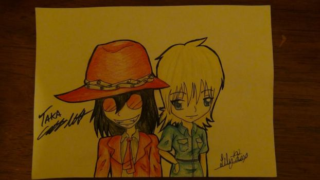 Chibi Alucard and Seras by Snake-n-DA-boX