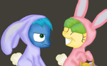 Night et Speedy fetent paque by stashine-nightfire