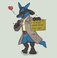 Lucario want Rickroll you by Fangy-From-Shadow
