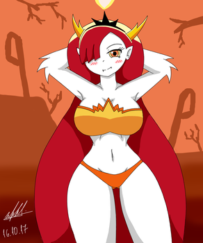 Hekapoo in Swimsuit by NeutralChilean