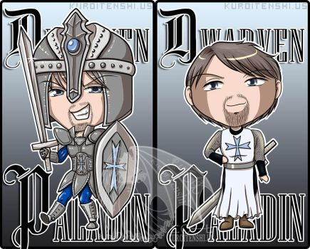 Commission Badge Dwarven Paladin Stephen by kuroitenshi13