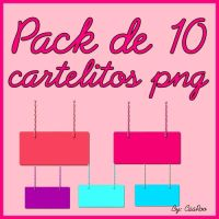 Pack de cartelitos png :DD by CaaRooeditions