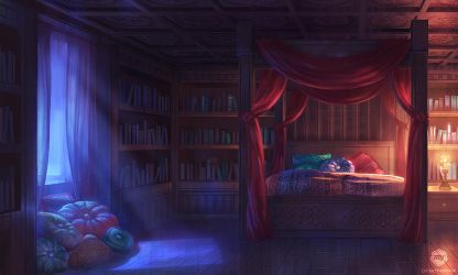 Dizzy Hearts: Mercilia's Room by ExitMothership