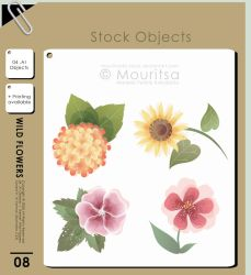 Object Pack - Wild Flowers by iMouritsa
