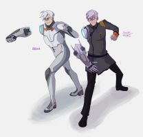 Shiro and Kuron  by NightmareCaster