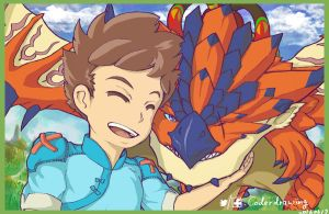 Bond between us - Monster Hunter Stories by han960691