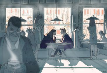 Breakfast at Mel s by PascalCampion