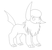 absol  lineart by michy123