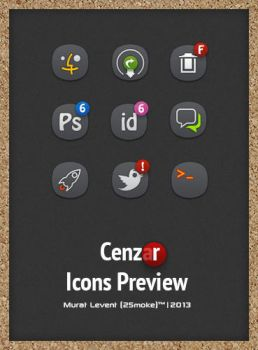 Cenza(r) Dock Icons Preview. by neodesktop